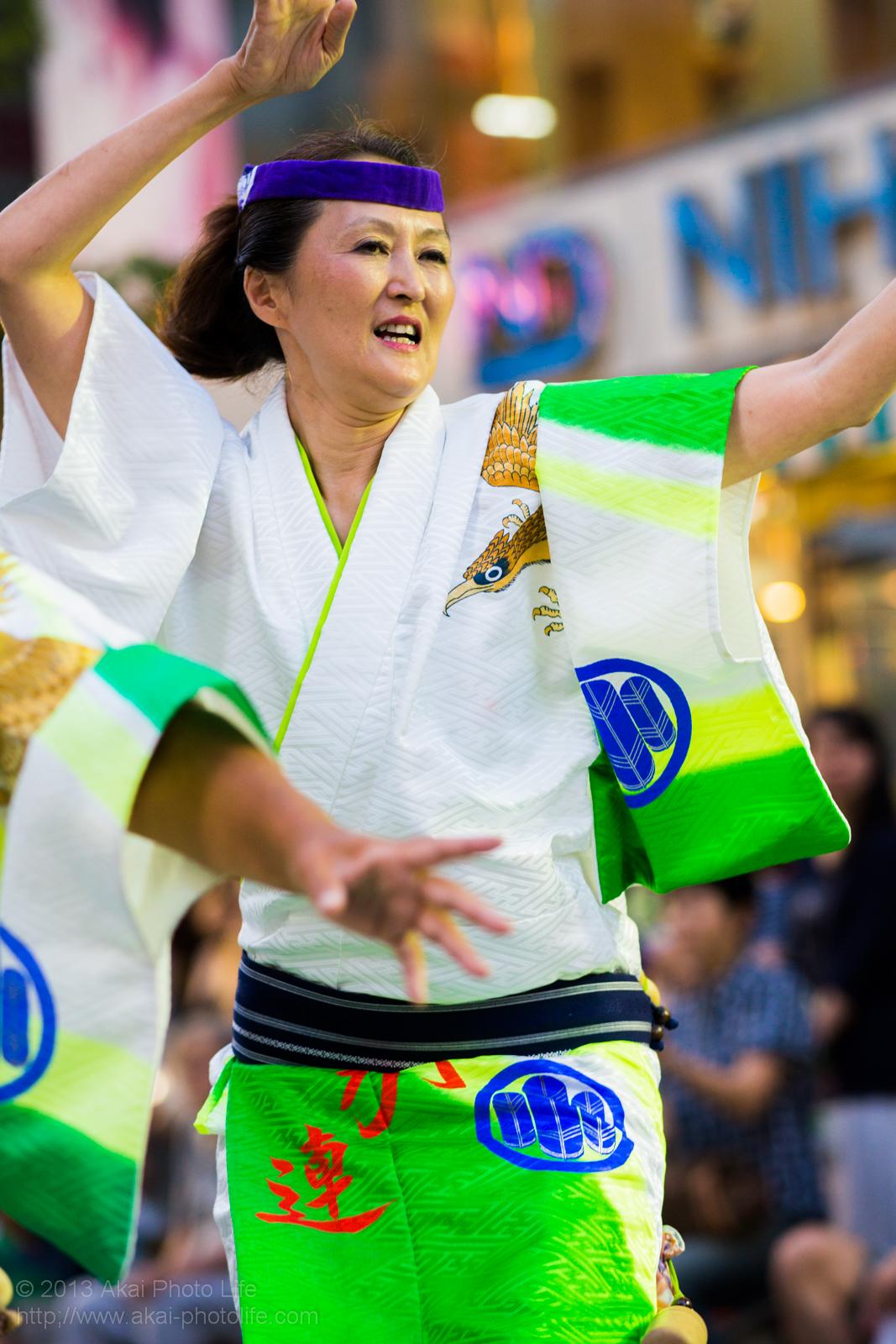 三鷹阿波踊り、みたか連の女性の男踊り