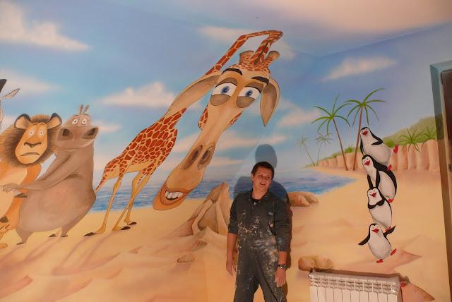 Künstlerische Wandmalerei im Kinderzimmer, aranzacja pokoju dziecięcego, Gdynia