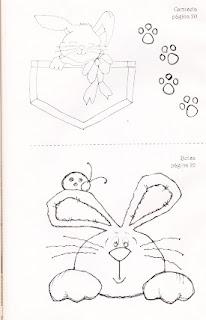 desenho de coelhos