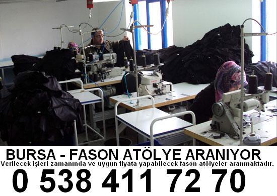 bursa teleferik tekstil konfeksiyon atölyelerine iş verilir ACİL