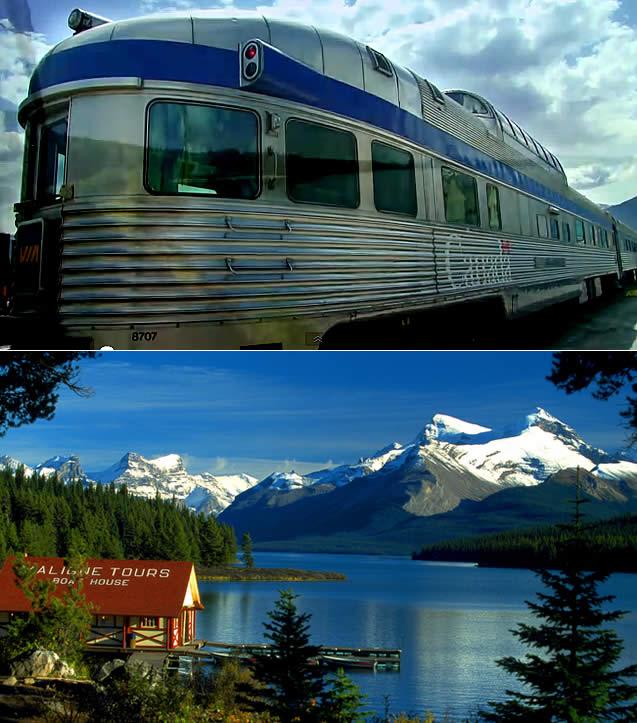 The Jasper para Prince Rupert - Trem Via Rail Canadá