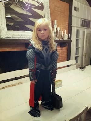 Cosplay Thor Criança