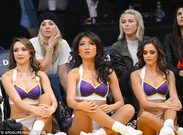 Hot Celebrity News Julianne Hough Nina Dobrev Kaley Cuoco At The Kings Vs Lakers Game L A