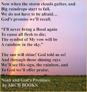 Noah's Rainbow, Rainbow, Flood, flooding, no more flooding