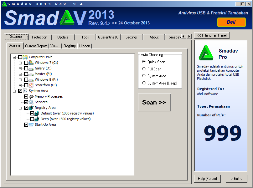 Download SmadAV Pro + Serial Key Update Paling Terbaru