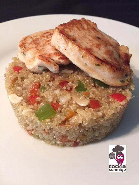 Cocina conmigo quinoa con verduras y medallones de pollo for Cocina quinoa con verduras