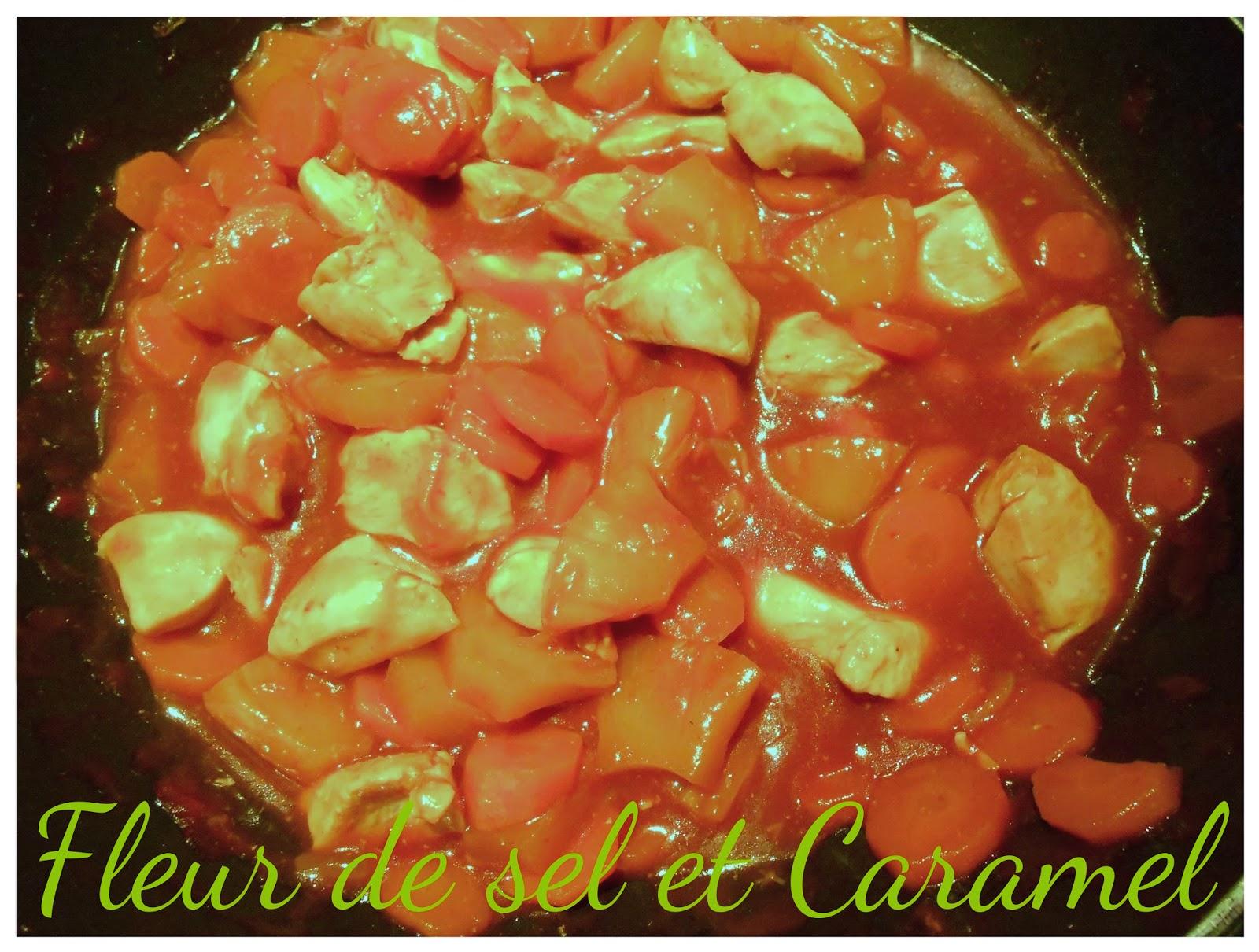 Poulet aux carottes et ananas