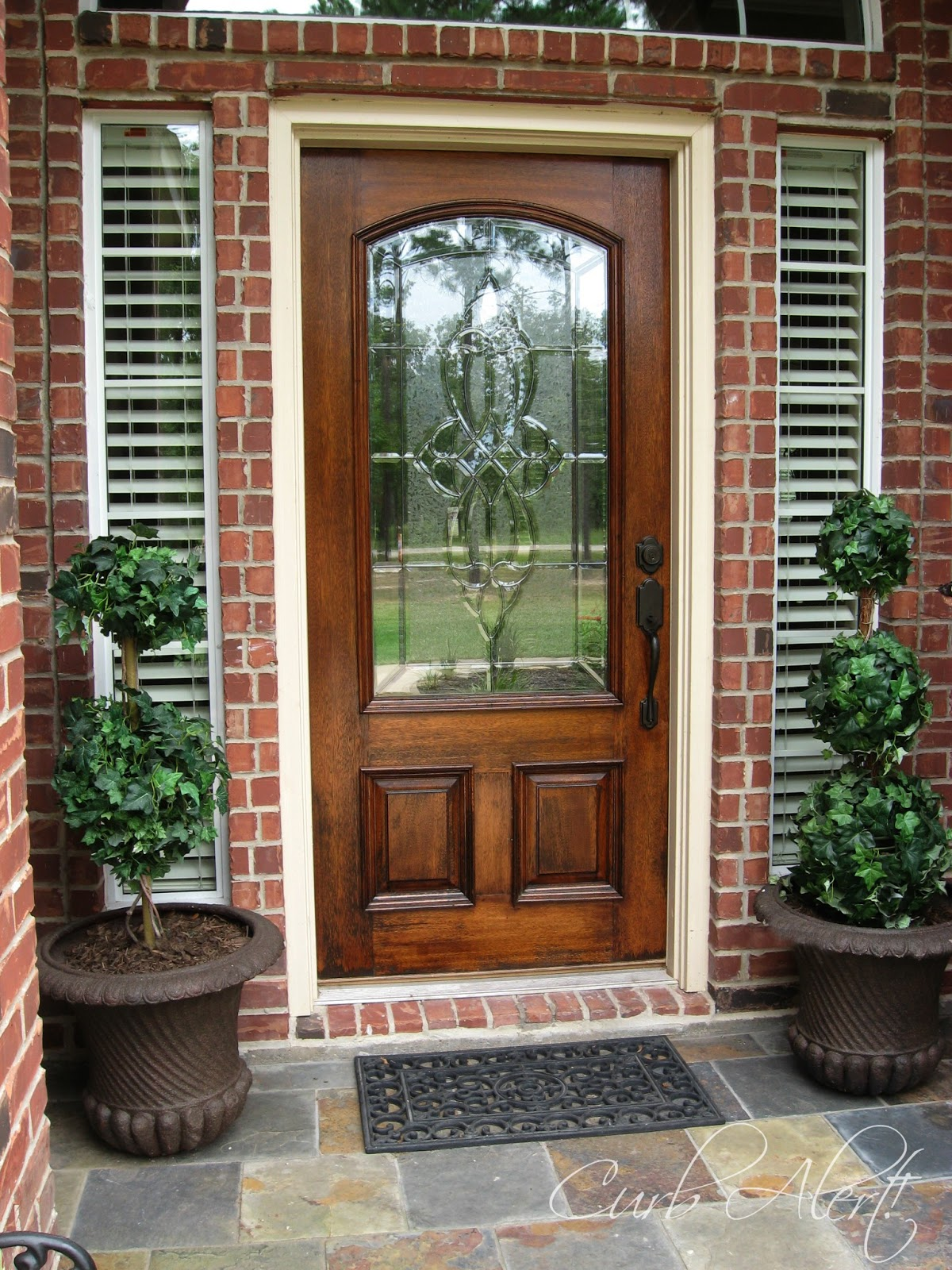 Curb Alert Updating Curb Appeal Front Door Refinishing