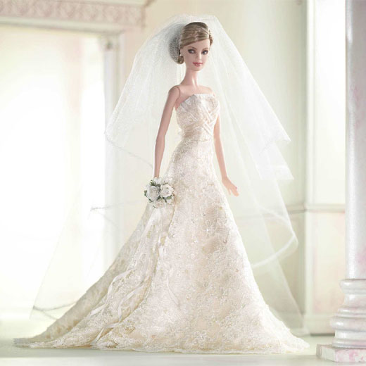 Picture of Barbie in Bridal Dress Free Download