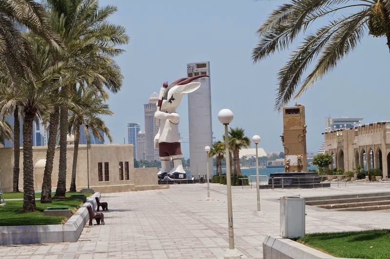 skyline de Doha, Qatar, rascacielos de Doha, Qatar 2022, Orix, mascota doha, mascota Qatar