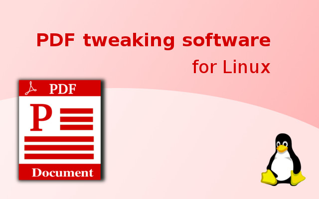 Free PDF manipulation software for Linux