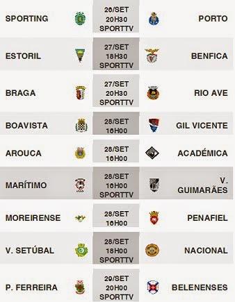 Liga Zon Sagres 2014-2015 6ºJornada