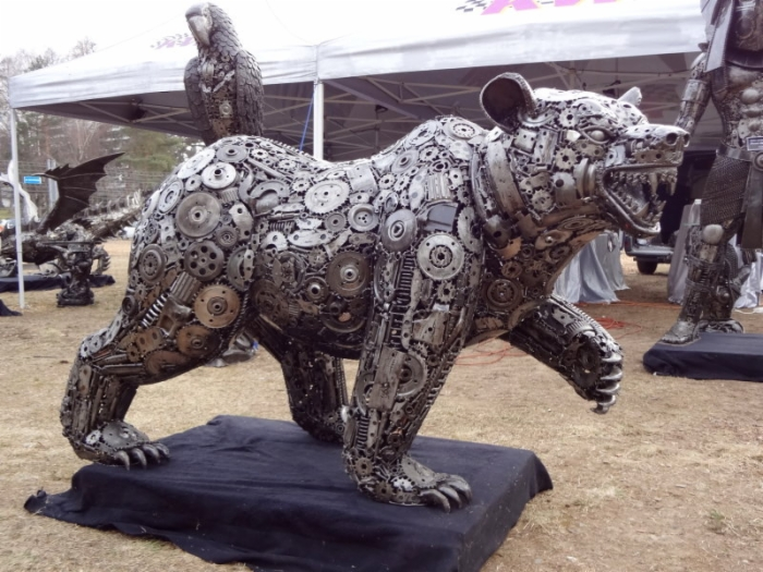 Recycled Metal Parts Into Unique Sculptures Recycling Center