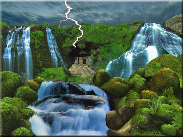 3D Nature WaterFall Wallpaper