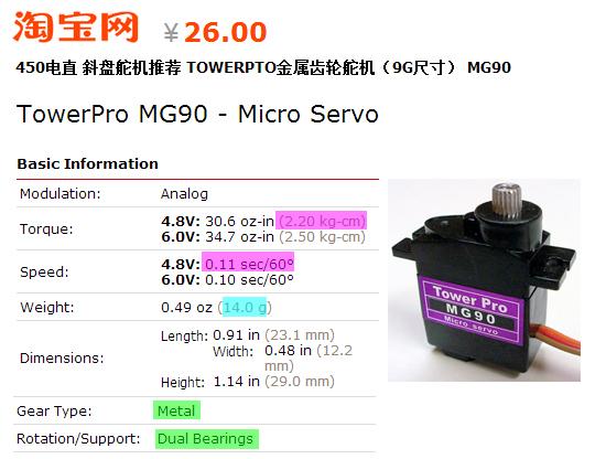 Fongeye towerpro mg90 micro servo notes for Micro stepper motor datasheet