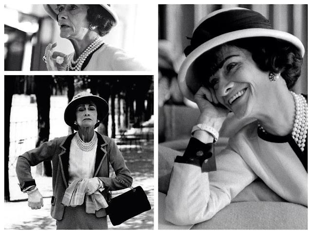 foto in bianco e nero di Coco Chanel