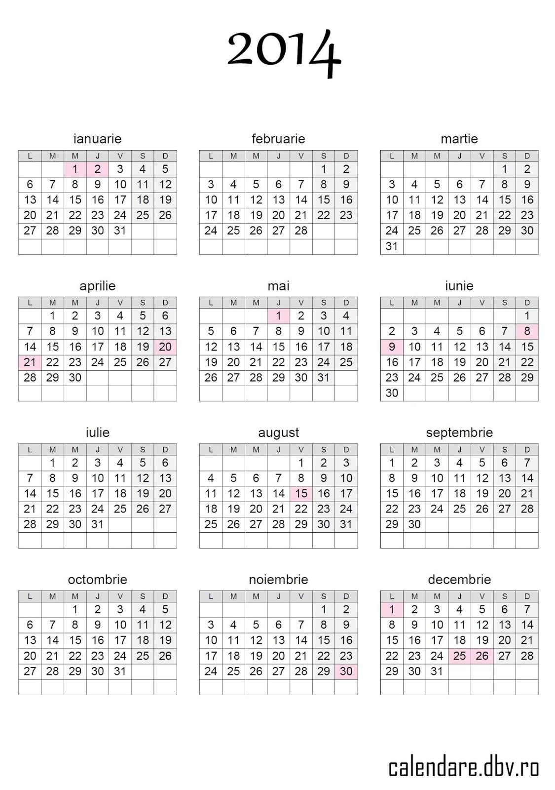 Calendar Românesc 2014 - 7