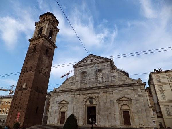 Turin Italie Via Garibaldi balade duomo di san giovanni