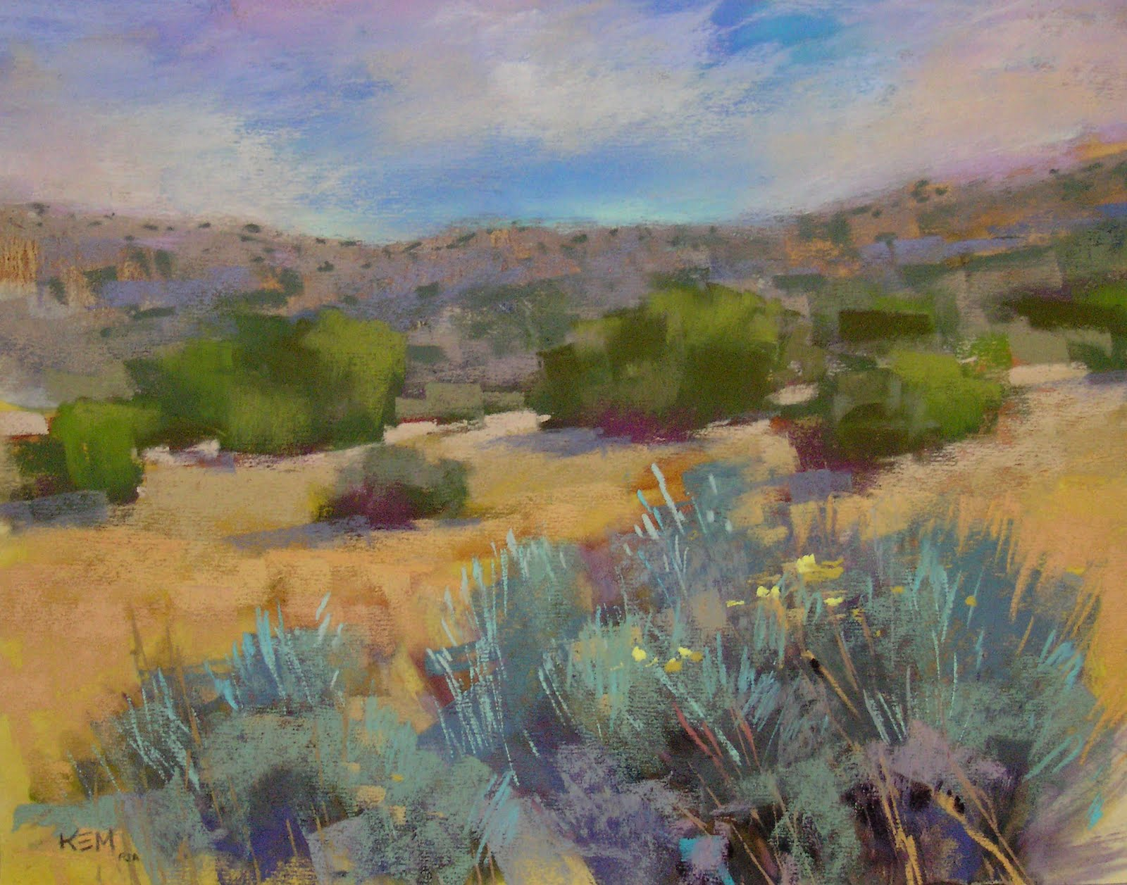 painting my world desert dreams new mexico landscape