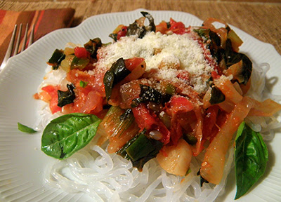 Closeup of Pasta dish