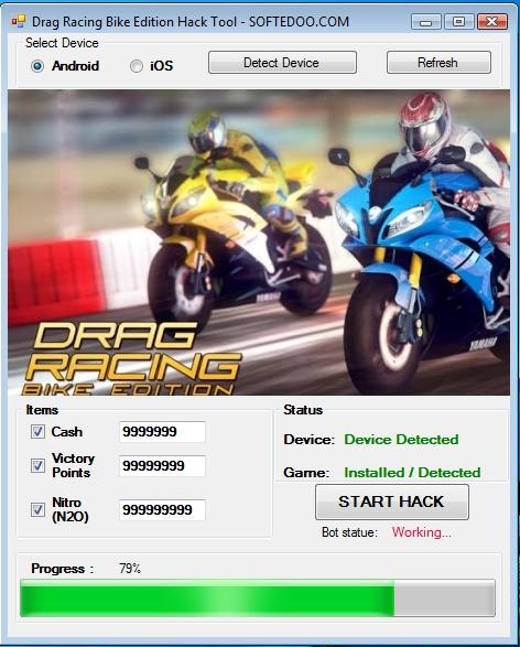 DRAG RACING BIKE EDITION HACK CHEATS