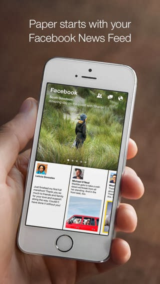 Facebook Paper App for Iphones