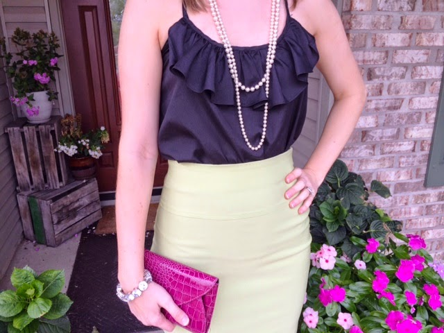 Ruffles and Pencil Skirt