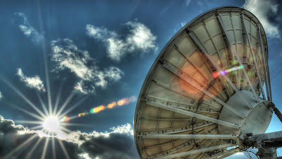 Satellite Dish Fair Use Public Domain Time Lapse HDR High Dynamic Range Setting Sun