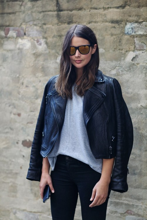 Stockholm Fashion Blogger Street Style Leather Jacket