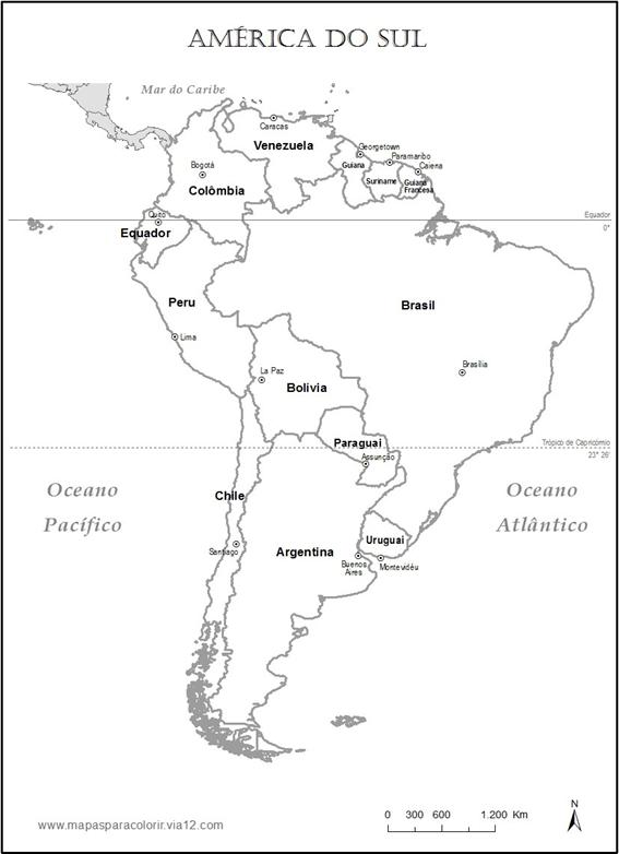 Mapa Representa Uma Parte Do Continente Americano  Qual    Ela