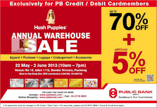 Hush Puppies Annual Warehouse Sale 2013