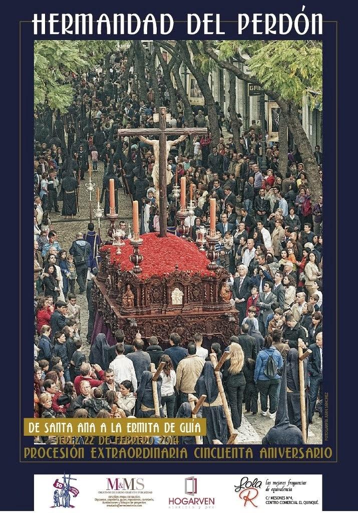 Cartel de la procesión extaordinaria del Perdón