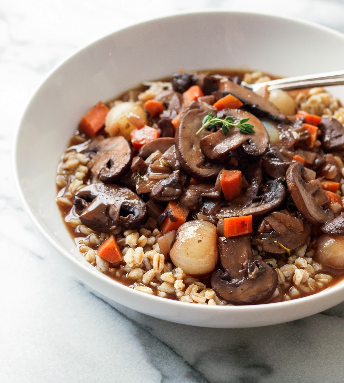 Mushroom Bourguignon + Vegan Wine