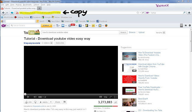 How to download a youtube video search for the youtube video and copy the youtube video link to download it