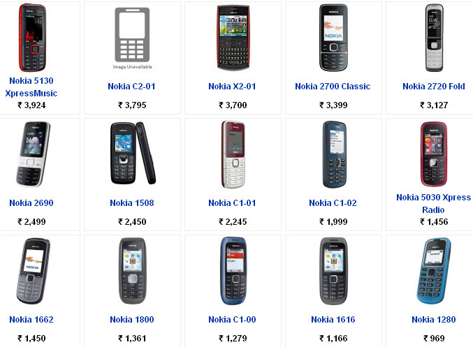 nokia cell phones with price list feed presedent