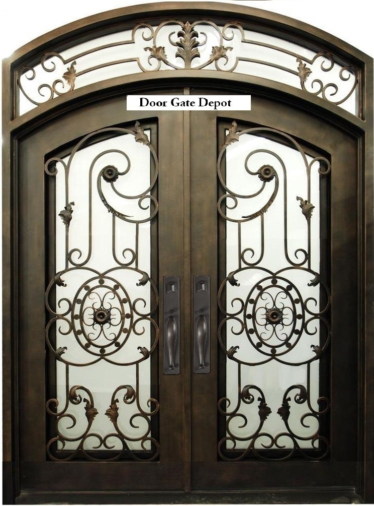 wrought iron doors gates fence and railings