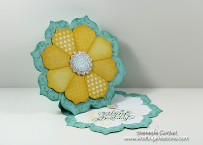Sunshine Flower Twisted Easel Card