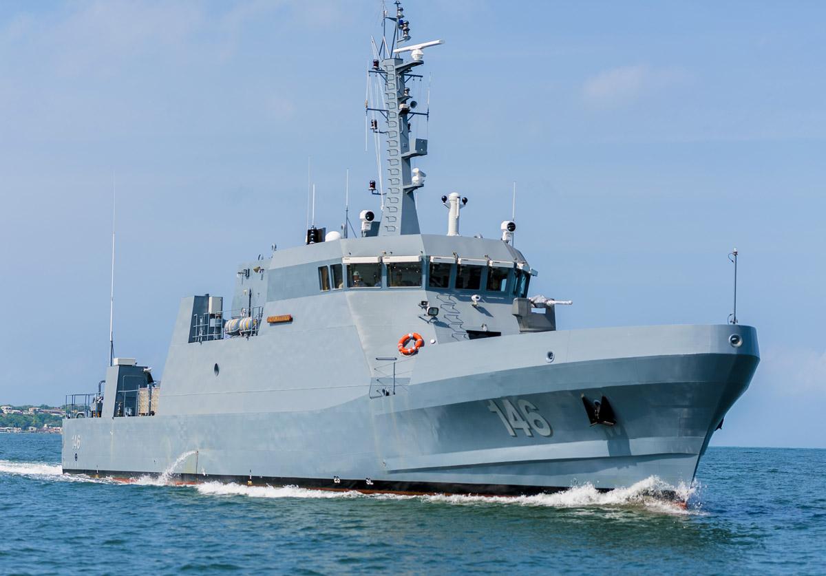ARC Punta Espada, nueva patrullera de costa CPV-46 de la Armada de Colombia construida por Cotecmar.