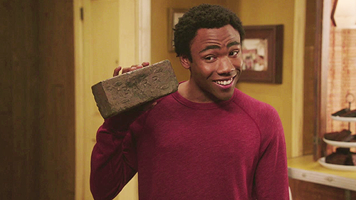 Troy community donald glover brick