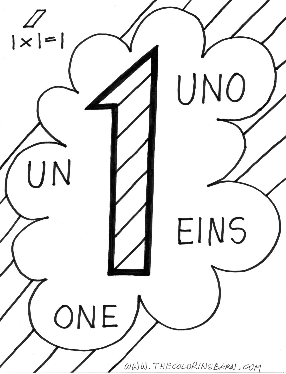 Coloring Pages Numbers 1 quot ONE quot