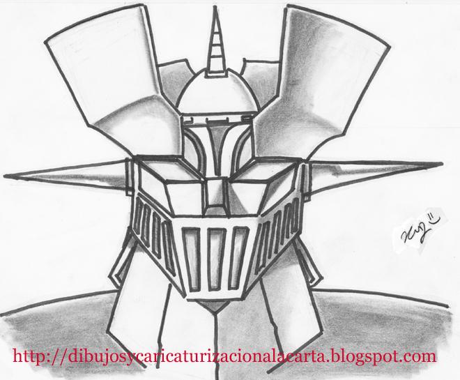 dibujos y caricaturizacion a la carta Dibujo Mazinger Z