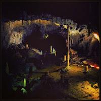 A dark cave