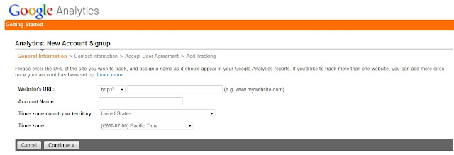 Google Analytics new account setup
