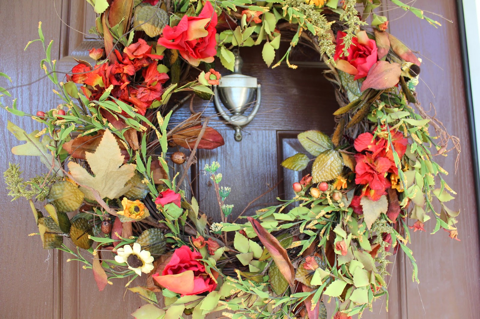 Ten June: A Natural Fall Front Door Wreath & A Wreath Giveaway For ...