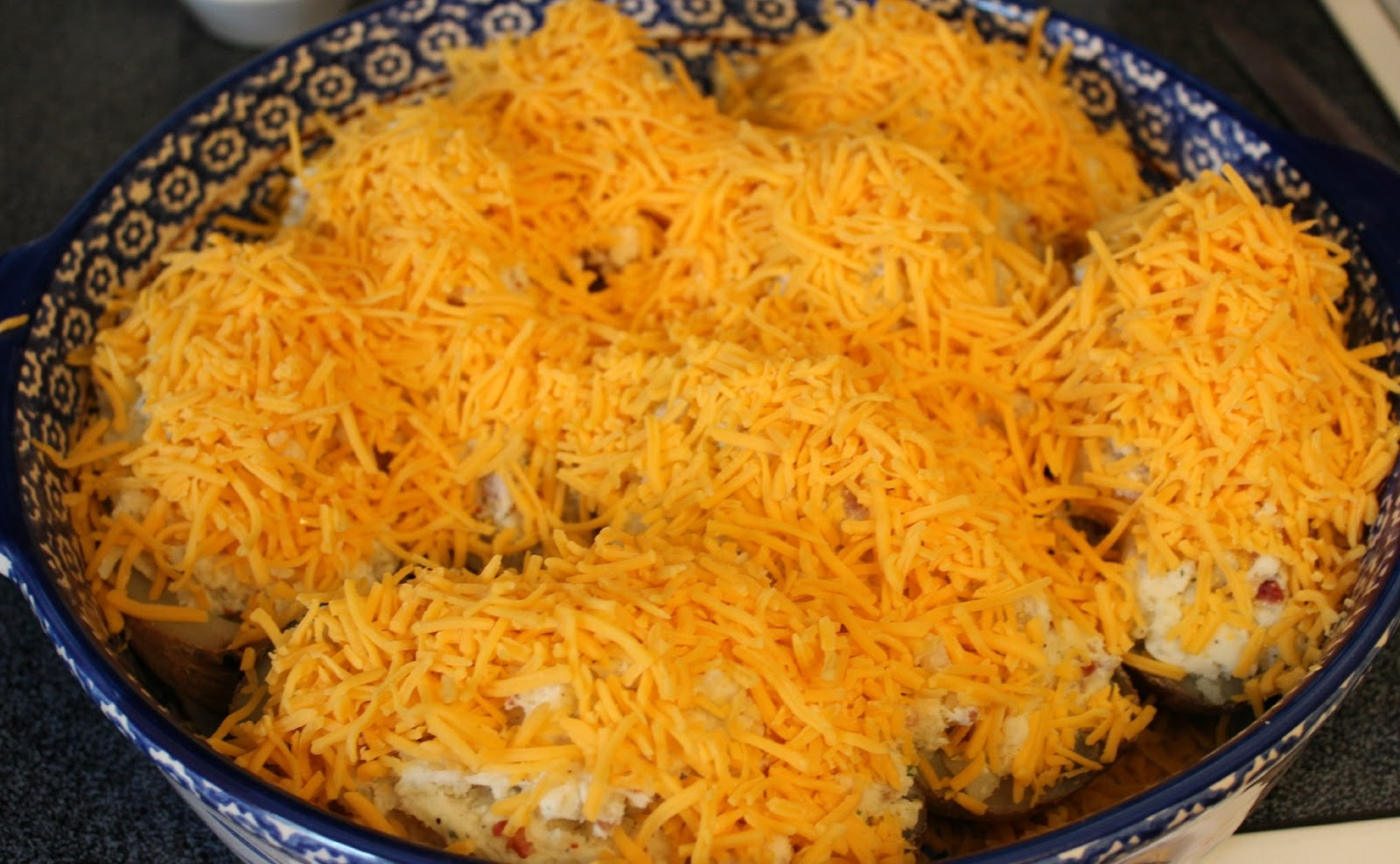 Sprinkle each one generously with shredded cheese and place in a 375 ...