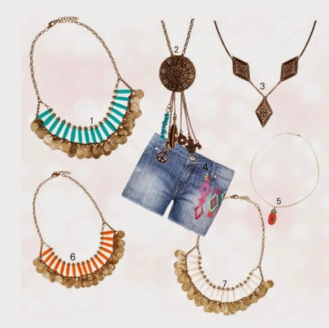 roupa-short jeans-short da moda-colares da moda-colares femininos-colar de franja-bijuterias da moda-bijuterias-joias-bijuterias-semi-joias-folheados-jewel-clad-necklace-collier-bijoux-collar-joyas