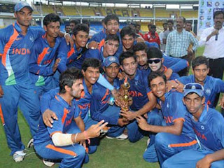 INDIA under-19 team Won quadrangular series