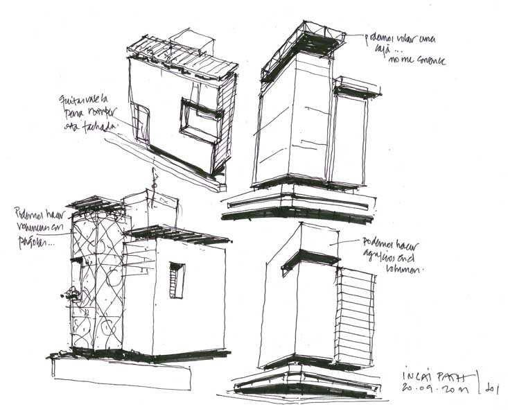 Dibujos de arquitecto architect drawings 110920 camino - Trabajo arquitecto barcelona ...