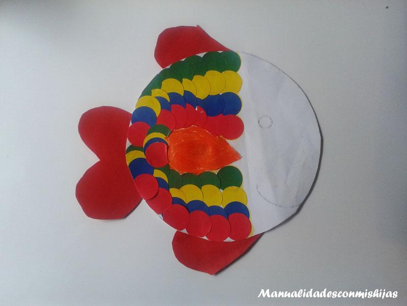 Reto infantil: Peces con gomets
