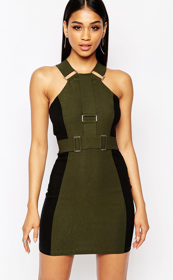 http://www.asos.com/Rare/Rare-London-Strap-Bodycon-Dress-With-Hardware-Details/Prod/pgeproduct.aspx?iid=5359898&cid=8799&sh=0&pge=8&pgesize=204&sort=1&clr=Olive+green&totalstyles=3442&gridsize=3